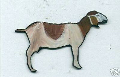 Goat Brooch Pin Farm Animal Hand Painted Handcrafted
