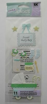 Jolee's Boutique - Sweet Baby Boy Dimensional Stickers 11pcs - #3163