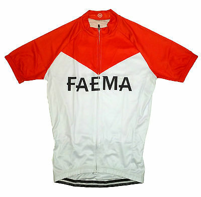 FAEMA RETRO VINTAGE CYCLING TEAM BIKE JERSEY - (Eddy Merckx)