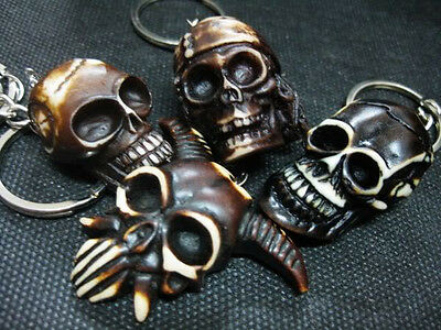 wholesale lots 16pcs Men's Skull head Awesome mix style Keychain Super Jewelry