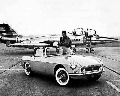 1963 MG MGB F-104 Phantom Fighter Jet Factory Photo c4403-LNHWIS