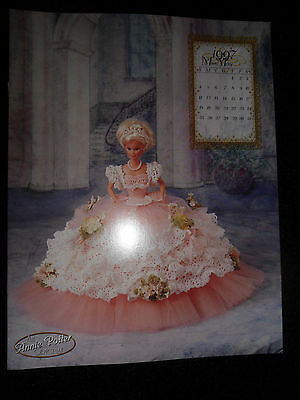 "1997 Annie Potter Crochet & Tulle 11 1/2"" Barbie Size Doll Miss May Royal Gown"
