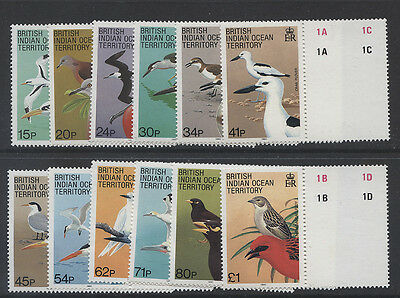 B.i.o.t. - 1990 Birds Set To £1 Mnh  Sg.90-101    (Ref.b15)