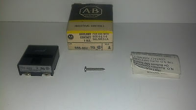 New Allen Bradley 595-A02 Ser A Auxiliary Contact 1 No Use With Sz 0-2 5-9 Relay