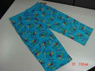 NWT Womens Dr. Suess Cropped Sleep Pants Yertle Turtle 1 Fish Blue Fish Cute New