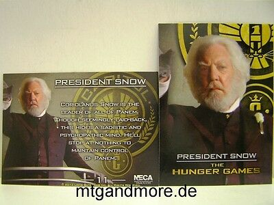 The Hunger Games Movie trading card 1x #011 president snow