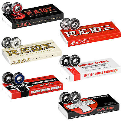 BONES BEARINGS Super Reds Swiss Ceramic, ect Skateboard / Roller Derby / Scooter