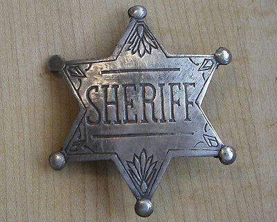 SHERIFF STAR BADGE BW - 71   WESTERN POLICE MARSHALL