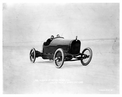 1916 Hudson Race Car Factory Photo Daytona Beach c4816-9BLUPO