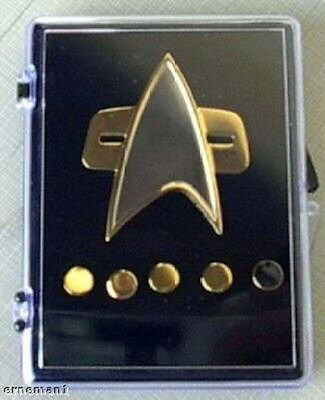 STAR TREK - DS9 + Voyager Captain Communicator Pin Set - new