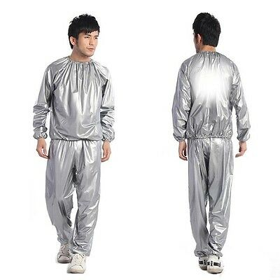 Gym Workout Yoga Exercise Unisex Sauna Sweat Suit Slimmer Slim Down Weight Loss
