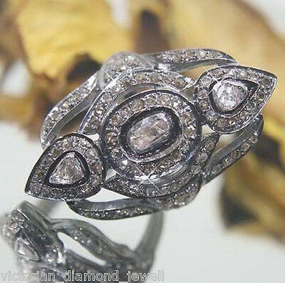 Victorian 2.65CT Polki & Rose cut Diamond Ring, Free Shipping worldwide