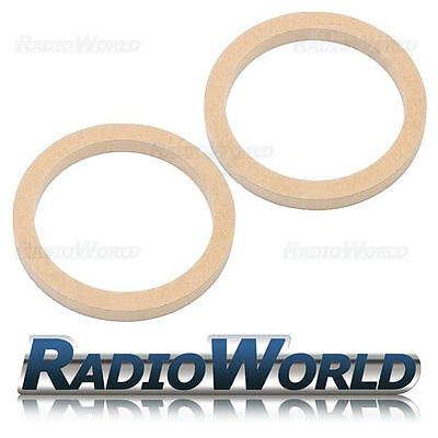 "5.25"" 130mm MDF Speaker Spacer Mounting Rings 18mm Thick ID 118mm ED 150mm Pair"