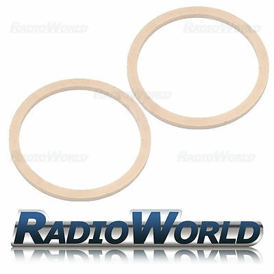 """6.5"""" 165mm MDF Speaker Spacer Mounting Rings 8mm Thick ID 144mm ED 166mm Pair"""