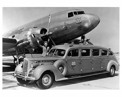 1940 Packard Super 8 Limo United Airlines Airplane Photo c5365-G13DEC