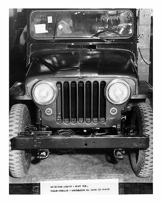 1952 Willys Overland Jeep CJ3B Factory Photo  c5414-E7A7YI