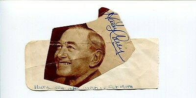 Harry Carey Sr Cowboy Western Angel and the Badman Signed Autograph