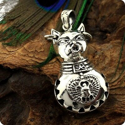 Egyptian Silver Goddess Bastet attractive Pendant Earrings