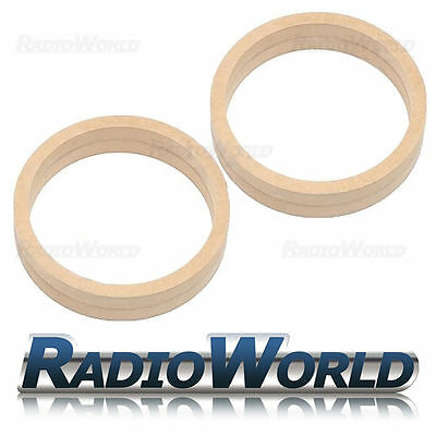 "6.5"" 165mm MDF Speaker Spacer Mounting Rings 36mm Thick ID 144mm ED 166mm Pair"