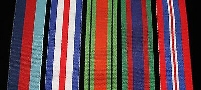 """WW2 Canadian Medal Set, FS (32mm) Replacement Ribbon, 8"""" of each for Court Mount"""