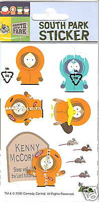 South Park Sticker 2 Bögen Kenny  siehe Bild Neuware