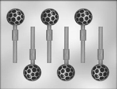 Soccer Ball Lollipop Chocolate Candy Mold CK #6212-  NEW