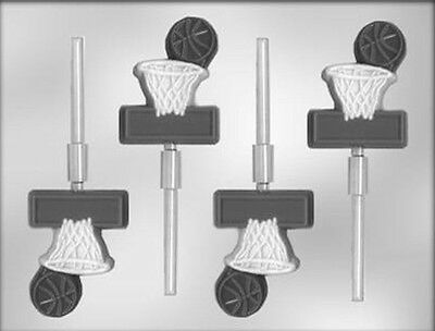 Basketball with Net Lollipop Chocolate Candy Mold CK #6208-  NEW