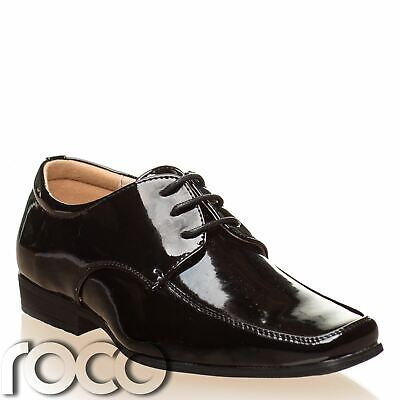 Boys Black Patent Shoes, Boys Formal Shoes, Boys Wedding Shoes, Page Boy Shoes