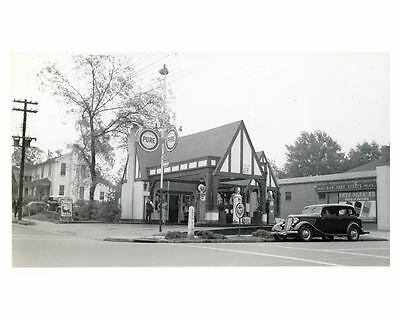 1941 Pure Oil Gas Station Photo Anderson South Carolina Gas Globe ch2595