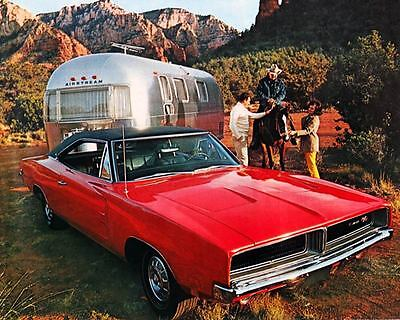 1969 Dodge Charger & Airstream Trailer Factory Photo c6939-HQ3GQB