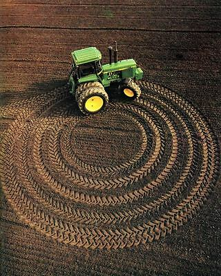 1985 John Deere 4450 Tractor Crop Circles Factory Photo c7027-DYWMKP