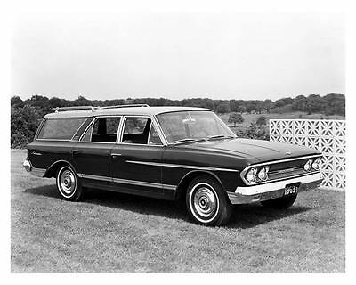 1963 AMC Rambler Ambassador Station Wagon Factory Photo c7093-KMR8NA