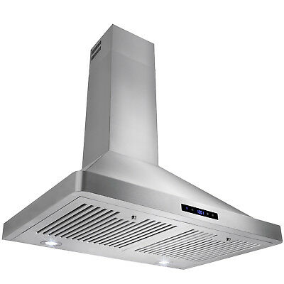 """New Europe Stainless Steel 30"""" Wall Mount Range Hood Ventless/Ductless"""