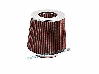 """RED UNIVERSAL 3.5/"""" 89mm CHF AIR FILTER FOR TOYOTA SHORT//COLD AIR INTAKE"""