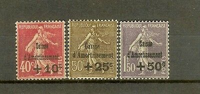 """FRANCE STAMP TIMBRE 266/68 """" CAISSE AMORTISSEMENT 4e SERIE """" NEUFS xx SUP H394"""