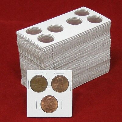 50 2x2 Penny Cent Dime 2 hole  Cardboard Coin Holders Flips plus 2019 P D Cents