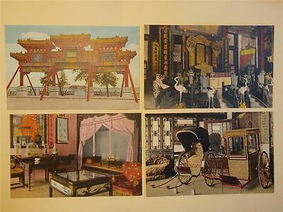 China Peking 1930's Color PC Summer Palace Set of 8 (D)