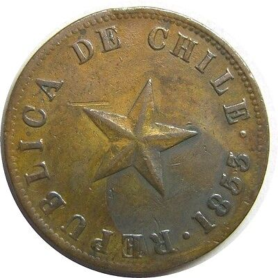 elf Chile 1 Centavo 1853  Star