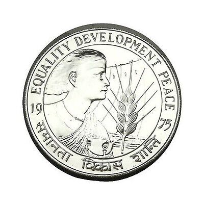 elf India 50 Rupees 1975 (B) Silver FAO Intl Year of the Woman