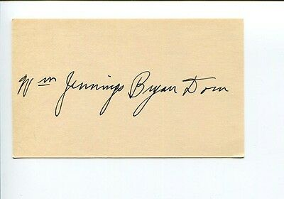 William Jennings Bryan Dorn South Carolina Representat Congress Signed Autograph