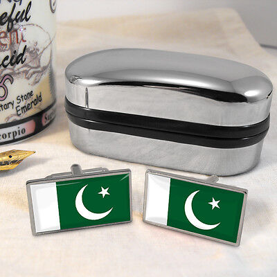 Pakistan Flag Cufflinks & Box