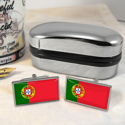 Portugal Flag Cufflinks & Box