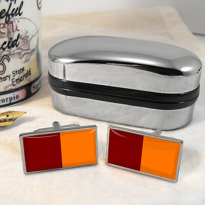 Rome Flag Cufflinks & Box