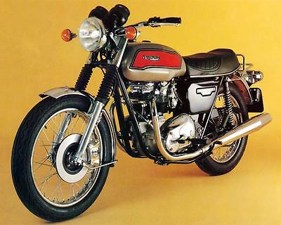 1981 Triumph Bonneville European T140E Factory Photo c7300-UECU5K
