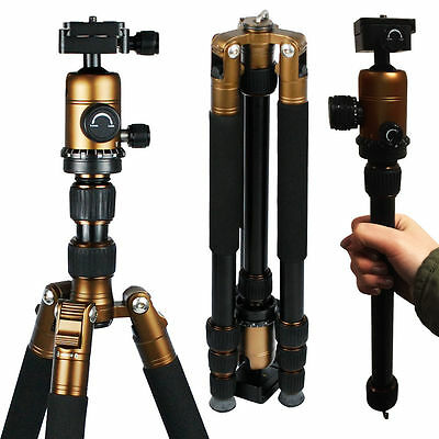 Professional Carbon Fiber Tripod Monopod w/ Ball Head For DSLR Camera Travel
