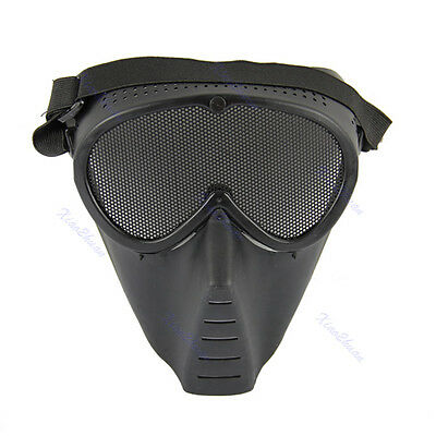 Paintball Airsoft Gear Safety Guard Mesh Mask Full Face Eyes Nose Wear Protector