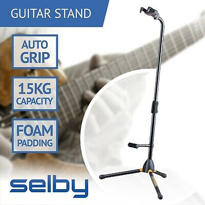 Hercules GS412B Guitar Stand with Backrest & Auto Grip System