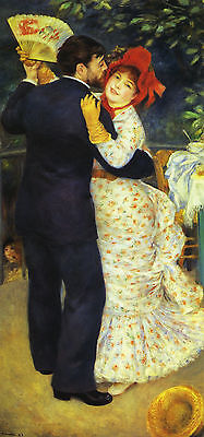 Renoir : A Dance In The Country :: 24 Inch Impressionist Canvas Fine Art Print