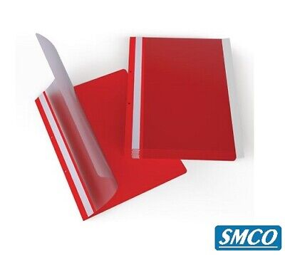 Qty 25 A4 Quality Project Presentation Document Report Files Folders 2 Prong RED
