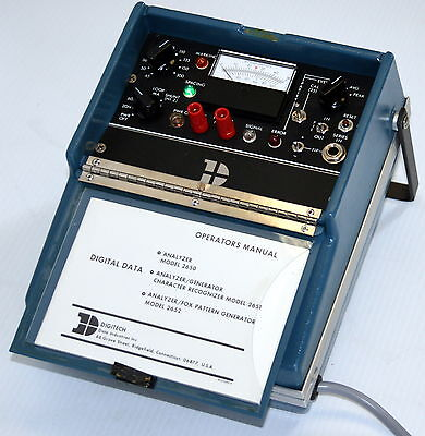 Digitech 2650 Portable Distortion Analyzer data telepgraph loop parity av & peak
